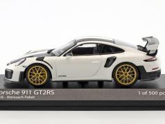Porsche 911 (991 II) GT2 RS Weissach Package année de construction 2018 blanc 1:43 Minichamps