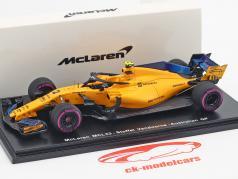 Stoffel Vandoorne McLaren MCL33 #2 9 ° australiano GP formula 1 2018 1:43 Spark
