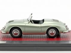 Porsche 356 America Roadster ouvert haut année de construction 1952 brillant vert métallique 1:43 Matrix