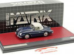 Porsche 356 America Roadster Closed Top year 1952 blue 1:43 Matrix