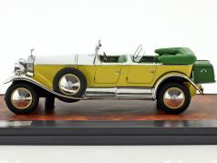 Rolls Royce Phantom 1 Tourer Barker anno di costruzione 1929 giallo / argento / verde 1:43 Matrix