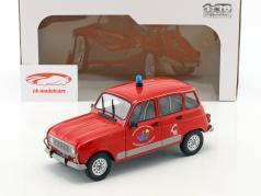 Renault 4 GTL pompiers rouge 1:18 Solido