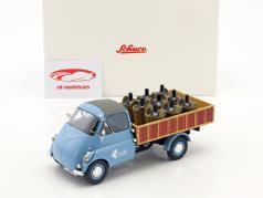 Isocarro Pritschenwagen mit Weinladung blau / braun 1:18 Schuco