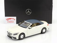Mercedes-Benz Maybach S 650 cabriolet con removibile top designo diamante bianco bright 1:18 Norev
