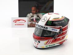 Lewis Hamilton Mercedes GP formule 1 2018 casque 1:2 Bell