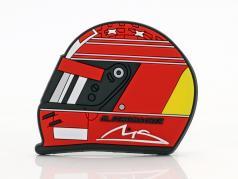 Michael Schumacher frigo aimant casque 2000 rouge