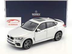 BMW X6 M year 2015 silver metallic 1:18 Norev