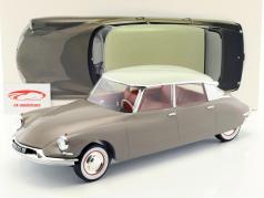 Citroen DS 19 anno di costruzione 1959 marrone / bianco 1:12 Norev