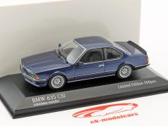 BMW 635 CSi year 1982 blue metallic 1:43 Minichamps