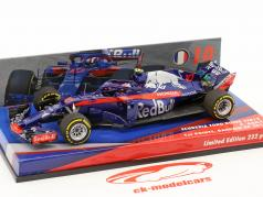 Pierre Gasly Scuderia Toro Rosso STR13 #10 1 ° punti Bahrain GP formula 1 2018 1:43 Minichamps