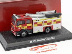 MAN TGL WRL with pump ladder fire Department red / yellow 1:72 Atlas