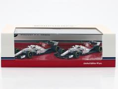 M. Ericsson #9 & Ch. Leclerc #16 2-Car Set Sauber C37 formule 1 2018 1:43 Minichamps