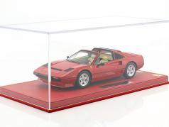 Ferrari 208 GTS Turbo année de construction 1983 corsa rouge avec vitrine 1:18 BBR