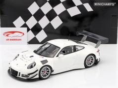 Porsche 911 (991) GT3 R Plain Body Version bianco 2016 1:18 Minichamps