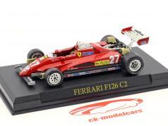 Gilles Villeneuve Ferrari F126 C2 #27 formula 1 1982 1:43 Altaya