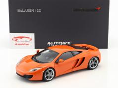 McLaren MP4-12C Baujahr 2011 orange 1:18 AUTOart