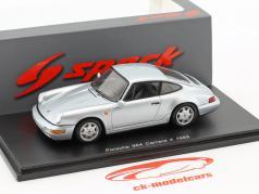 Porsche 911 (964) Carrera 4 year 1989 silver 1:43 Spark