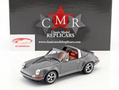 Singer Targa modification of a Porsche 911 gray 1:18 CMR