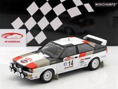 Audi Quattro #14 gagnant Rallye SanRemo 1981 Mouton, Pons 1:18 Minichamps