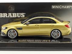 Brabus 600 based on Mercedes-Benz AMG C 63 S year 2015 gold metallic 1:43 Minichamps