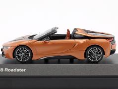 BMW i8 Roadster year 2018 copper metallic / black 1:43 Minichamps