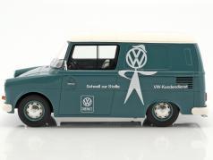 Volkswagen VW Fridolin VW-Kundendienst light blue / White 1:18 Schuco