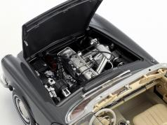 Mercedes-Benz 280 SL with removable Top dark gray 1:18 Schuco