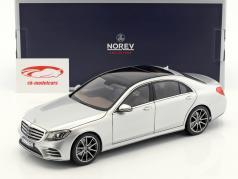 Mercedes-Benz S-Class AMG-Line year 2018 silver metallic 1:18 Norev