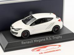 Renault Megane R.S. Trophy year 2014 pearl white 1:43 Norev