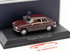 Peugeot 204 coupe year 1967 maroon 1:43 Norev