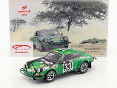 Porsche 911 ST #33 Rallye Afrique de l'Est safari 1971 Waldegard, Lars 1:18 Spark