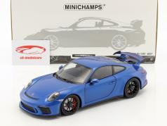 Porsche 911 (991 II) GT3 year 2017 blue metallic 1:18 Minichamps