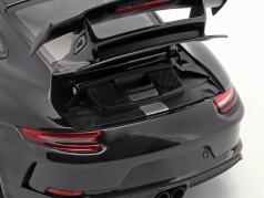 Porsche 911 (991 II) GT3 year 2017 black metallic 1:18 Minichamps