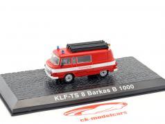 Barkas B 1000 KLF-TS 8 pompiers rouge 1:72 Altaya