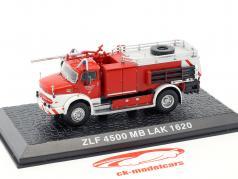 Mercedes-Benz LAK 1620 ZLF 4500 pompiers Brunsbüttel rouge / blanc 1:72 Altaya