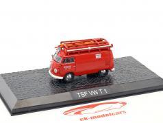 Volkswagen VW T1 bus pompiers Seth rouge 1:72 Altaya