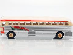 GMC PD-3751 bus Trailways year 1949 silver / red / beige 1:43 Ixo