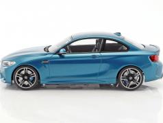 BMW M2 Coupe Baujahr 2016 long beach blau 1:18 Minichamps