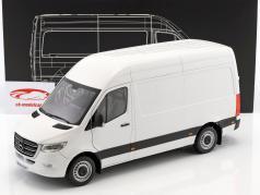 Mercedes-Benz Sprinter furgone anno di costruzione 2018 Artico bianco 1:18 Norev
