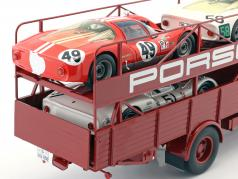 MAN 635 Racing transporter Porsche year 1960 red 1:18 Schuco