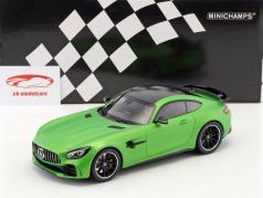 Mercedes-Benz AMG GT-R ano de construção 2017 verde metálico 1:18 Minichamps