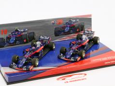 P. Gasly #10 & B. Hartley #28 2-Car Set Scuderia Toro Rosso STR13 formule 1 2018 1:43 Minichamps