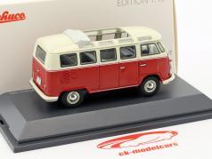 Volkswagen VW T1 Samba bus red / beige 1:43 Schuco