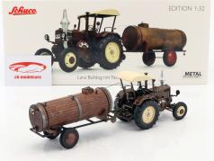 Lanz Bulldog with roof and manure trailer brown 1:32 Schuco