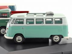 4-Car Set Volkswagen VW T1b With VW T1b Samba, panel van, Doble Cabin, Pick up 1:43 Schuco