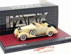 Hispano Suiza H6C Convertible Sedan Open Top Hibbard & Darrin year 1928 cream white 1:43 Matrix