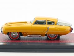 Pegaso Z-102 BS 2.5 Cupola coupe year 1953 yellow 1:43 Matrix
