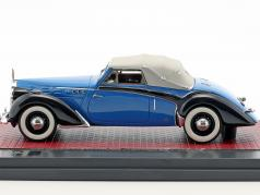 Voisin C30 Goelette Cabriolet Dubos Closed Top year 1938 blue / black 1:43 Matrix