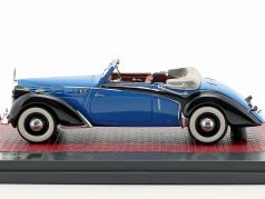 Voisin C30 Goelette Cabriolet Dubos Open Top year 1938 blue / black 1:43 Matrix