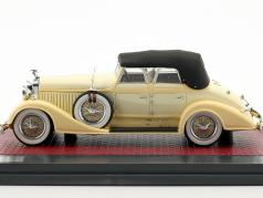 Hispano Suiza H6C Convertible Sedan Closed Top Hibbard & Darrin year 1928 cream White 1:43 Matrix